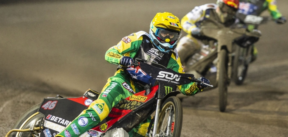 Team USA at FIM Speedway of Nations in Latvia